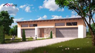 """<p></p><p><i><b>Zg27</b> – это проект, по которому возводится большой стильный гараж для четырех автомобилей. Его прекрасная отделка, выполненная из древесины, камня, штукатурки и комфорт не оставят равнодушными владельцев больших усадеб.</i></p><h4>Преимущества проекта Zg27:</h4><p></p><ul><li><span style=""""background-color: initial;"""">Гараж спланирован с целью создания максимального комфорта. Владельцы смогут разместить в нем не только свои автомобили, но и оборудовать помещения всем, что душа пожелает – площадь это позволяет.</span></li><li><span style=""""background-color: initial;"""">Помещение гаража разделено на функциональные зоны, в двух из которых можно создать условия для ремонта и содержания автопарка.</span></li><li><span style=""""background-color: initial;"""">Два отдельных въезда перекрываются автоматическими воротами, что подчеркивает комфорт и презентабельность гаража.</span></li></ul><p></p><p>Тем, кого интересует вместительный гараж из газобетона, проекты которого рассчитаны на парковку сразу четырех машин, советуем присмотреться к проекту Zg27!</p><br><p></p>"""